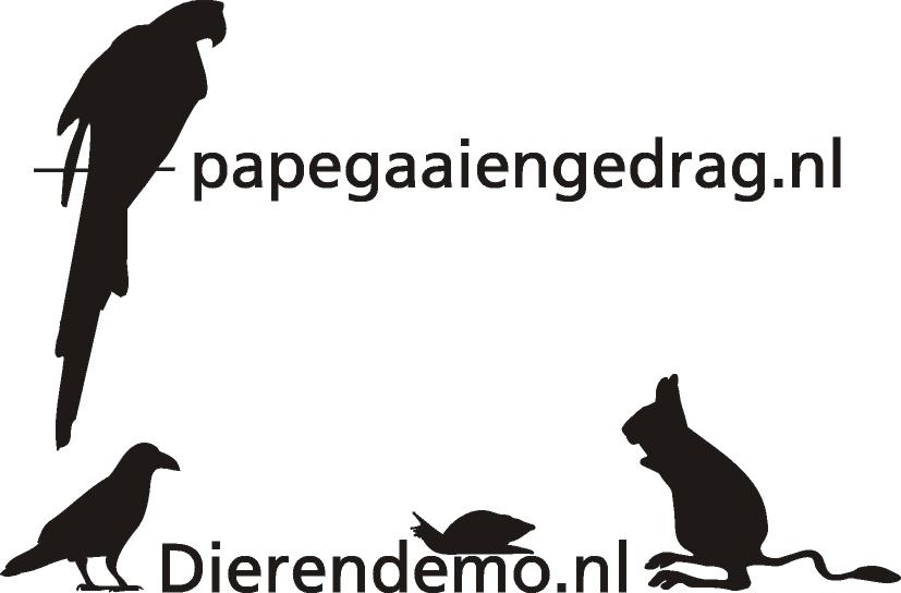 Logo Papegaaiengedrag en Dierendemo samen definitief kopie